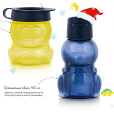 Детский набор: Эко-бутылка (350 мл), Закусочный стаканчик (350 мл) РП390